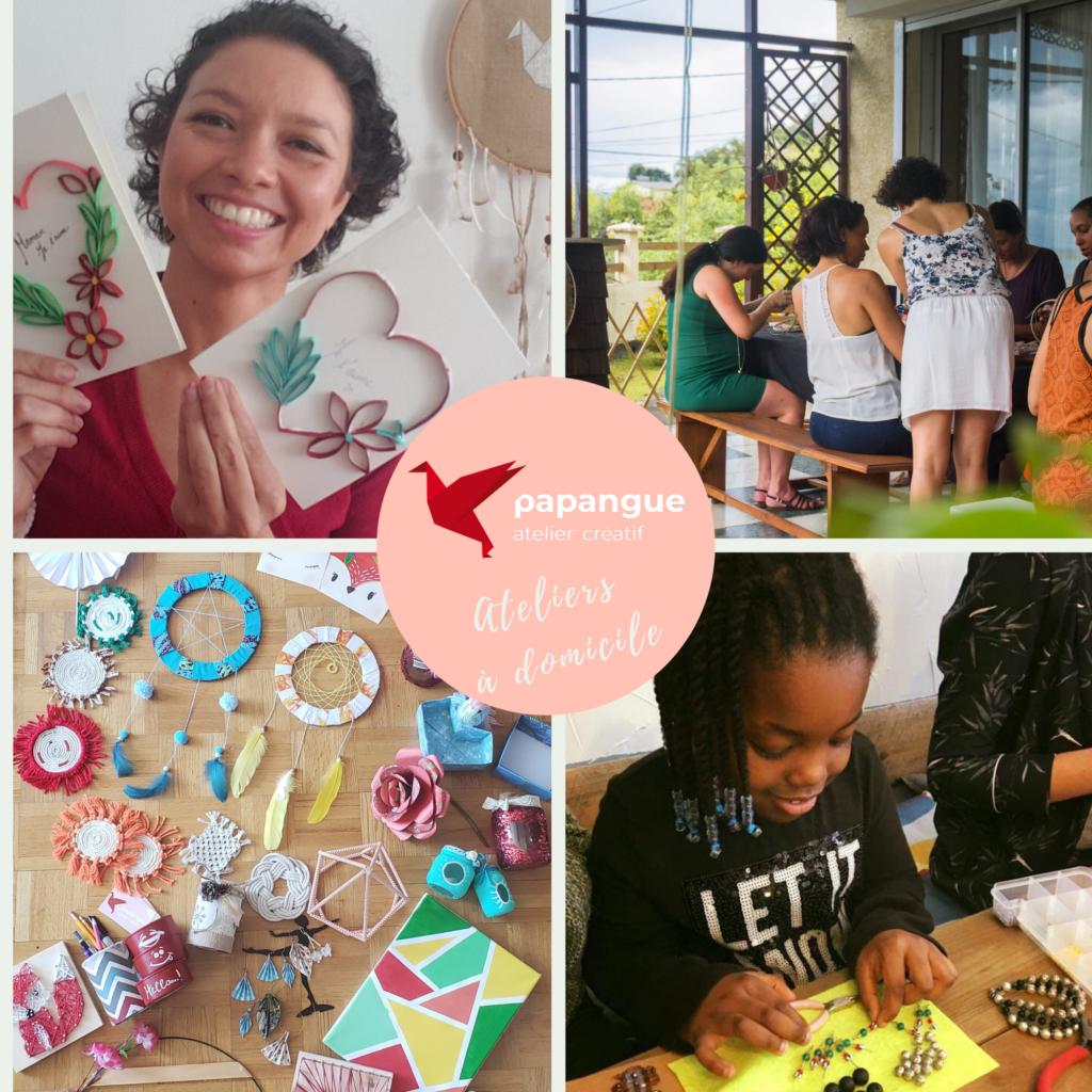 atelier enfant artistique à domicile extérieur papangue atelier créatif