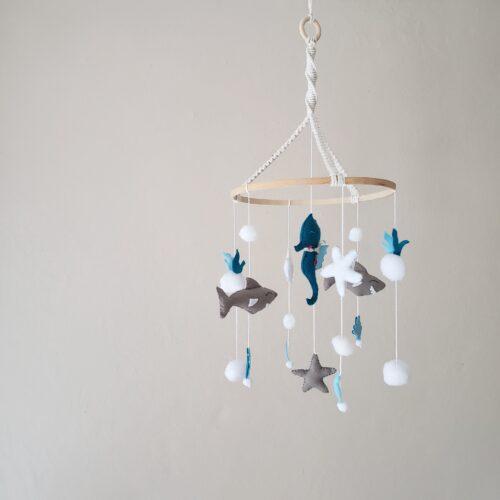 OCEANIA Mobile pour bébé Papangue atelier créatif création sur-mesure