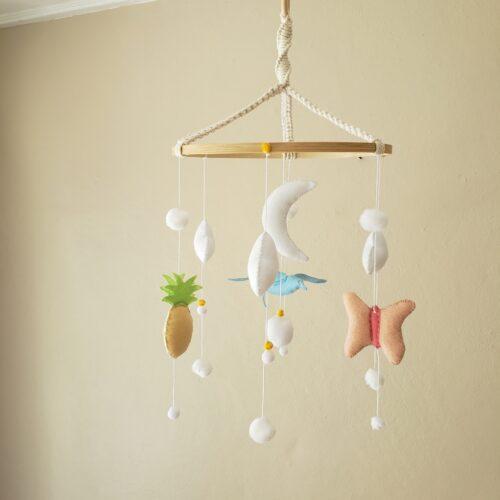 Tropical Mobile bebe fait-main theme Papangue atelier creatif (24)