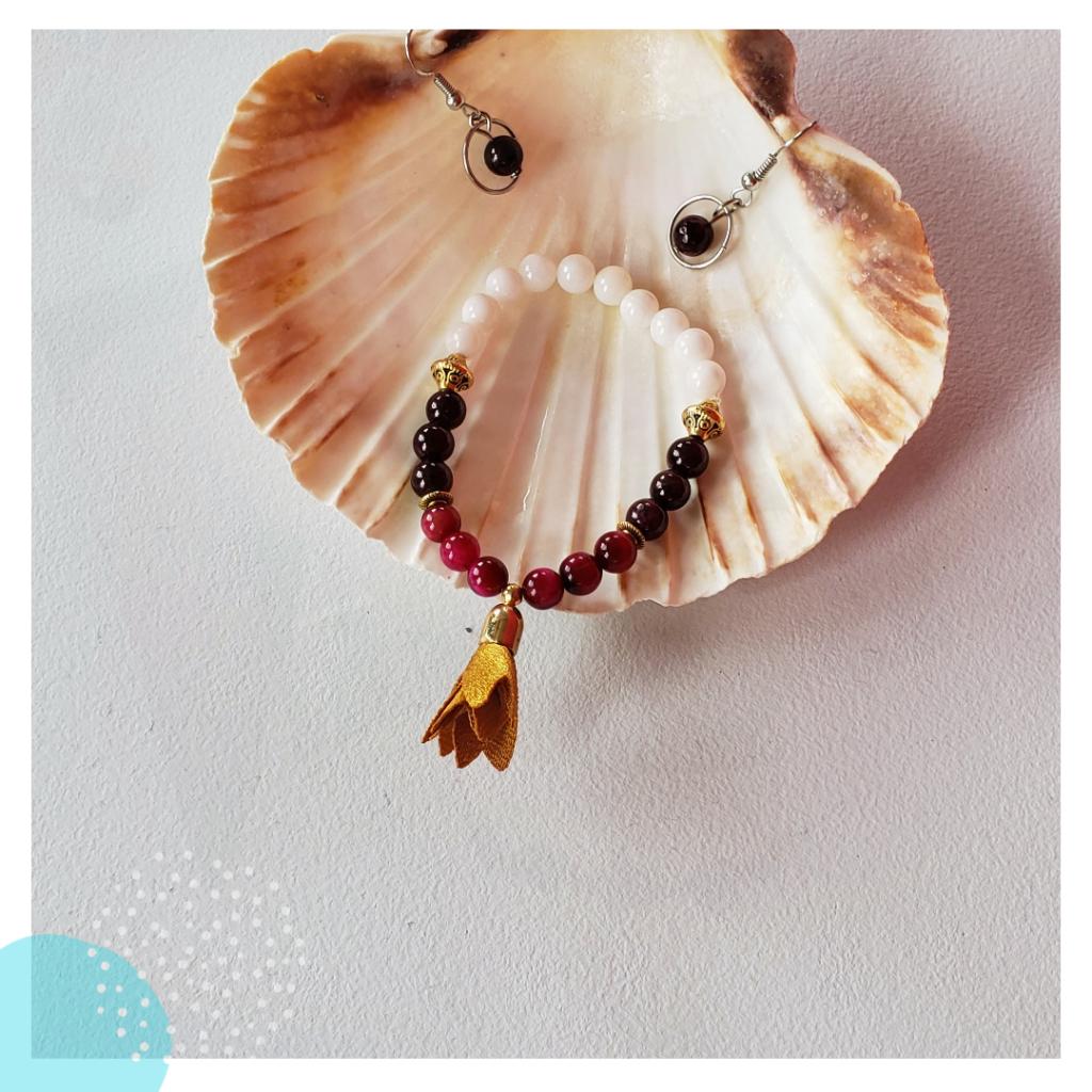 Papangue atelier créatif bijoux bracelet pierres semi precieuses