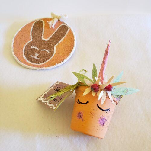 Papangue atelier créatif - activités enfants Licorne Pâques DIY
